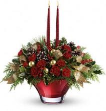 Teleflora\'s Holiday Flair Centerpiece