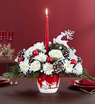 Santa\'s Sleigh Ride Centerpiece