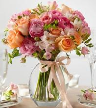 The Peach Silk Arrangement
