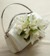 White Purse Corsage