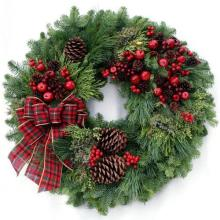 Large Classic Evergreen Wreath 28""