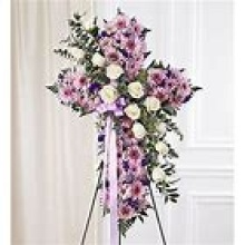 Lavender & White Standing Cross