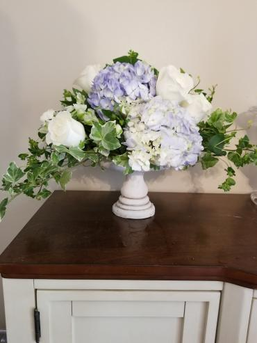Blue and White Pedestal