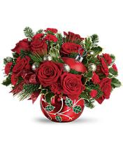 Deck The Holly Orinment Bouquet